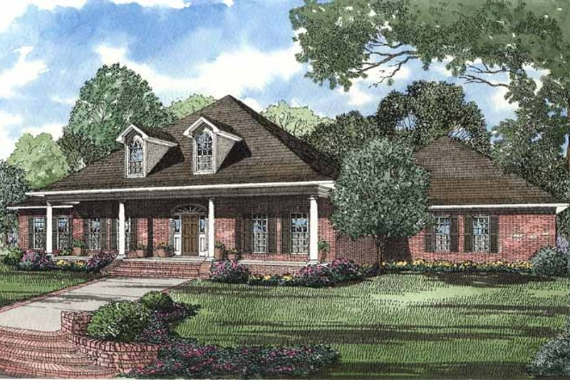 Country Exterior - Front Elevation Plan #17-2754