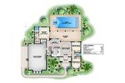 Mediterranean Style House Plan - 3 Beds 2.5 Baths 3051 Sq/Ft Plan #27-500 Floor Plan - Main Floor Plan