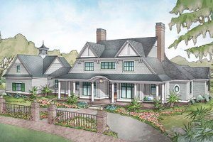 Farmhouse Exterior - Front Elevation Plan #928-313