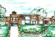 Architectural House Design - Contemporary Exterior - Front Elevation Plan #955-1