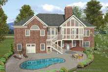 Architectural House Design - Craftsman Exterior - Rear Elevation Plan #56-687