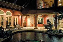 House Plan Design - Mediterranean Exterior - Outdoor Living Plan #930-355