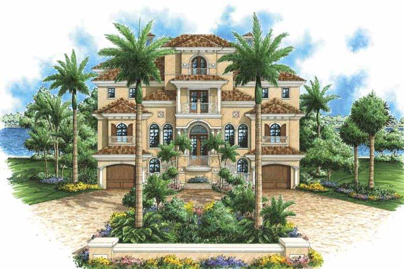 Mediterranean Exterior - Front Elevation Plan #1017-98 - Houseplans.com