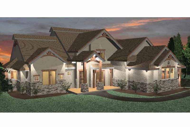 Prairie Exterior - Front Elevation Plan #937-18
