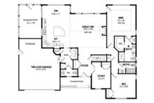 Ranch Floor Plan - Main Floor Plan Plan #316-286