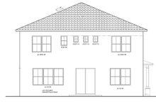 Home Plan - Mediterranean Exterior - Rear Elevation Plan #1058-64