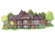 European Style House Plan - 5 Beds 5.5 Baths 4284 Sq/Ft Plan #929-896 Exterior - Rear Elevation