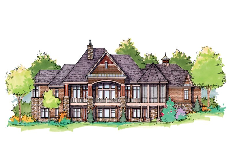 European Exterior - Rear Elevation Plan #929-896 - Houseplans.com