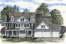 Colonial Exterior - Front Elevation Plan #316-201