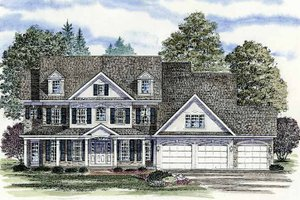House Design - Colonial Exterior - Front Elevation Plan #316-201