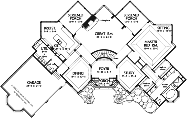 European Floor Plan - Main Floor Plan Plan #929-944