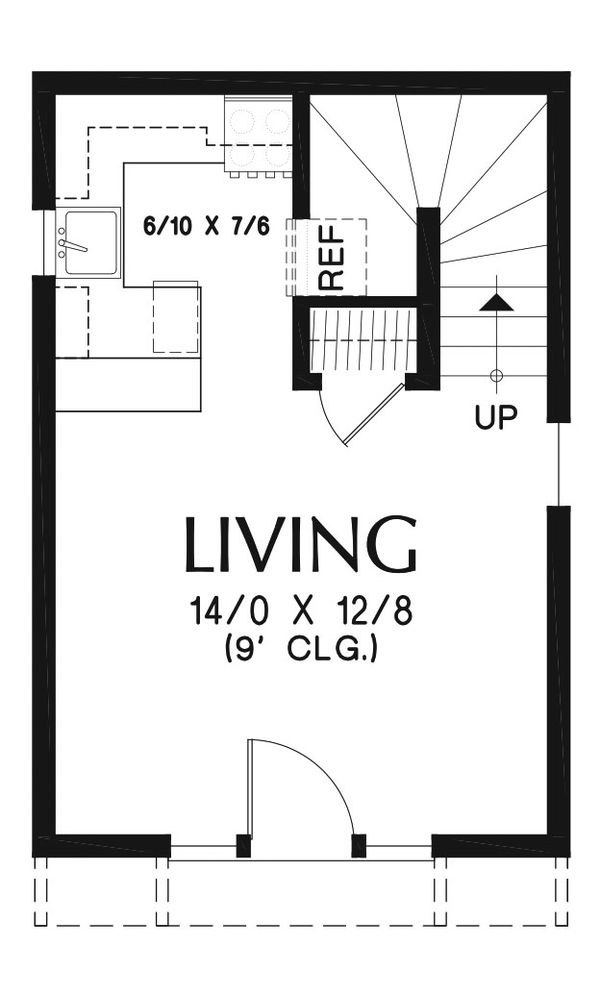 Craftsman Floor Plan - Main Floor Plan Plan #48-935