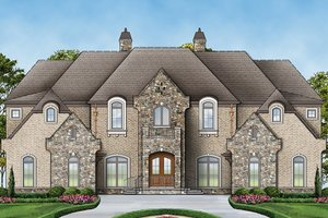 Architectural House Design - European Exterior - Front Elevation Plan #119-423