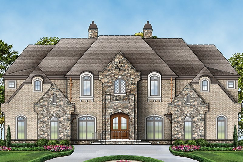 European Exterior - Front Elevation Plan #119-423