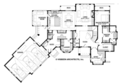 Country Style House Plan - 3 Beds 3.5 Baths 3698 Sq/Ft Plan #928-269 Floor Plan - Main Floor Plan