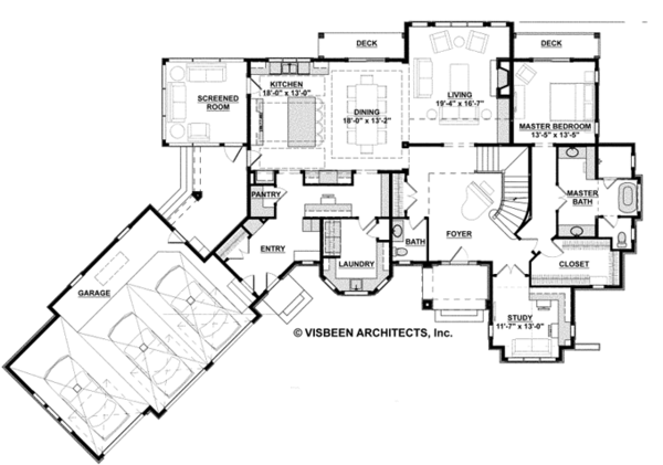 Architectural House Design - Country Floor Plan - Main Floor Plan #928-269