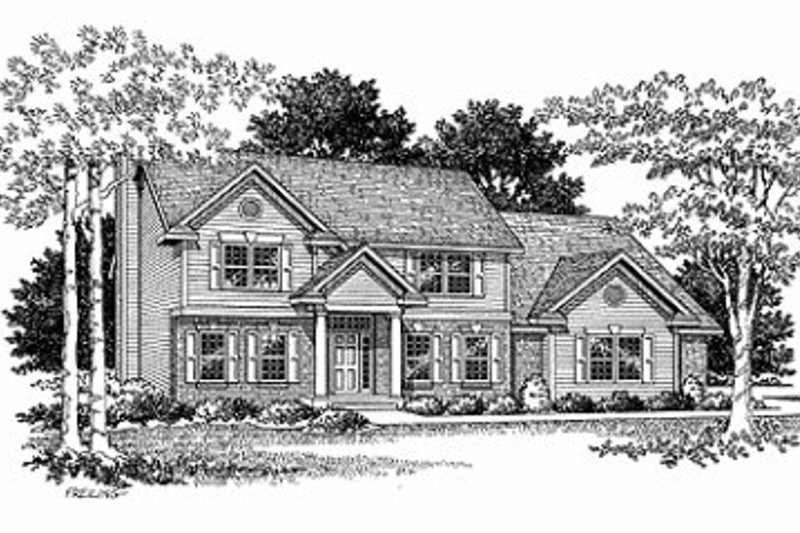 Traditional Exterior - Front Elevation Plan #70-399