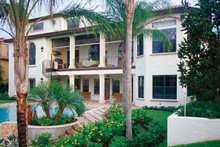 House Plan Design - Mediterranean Exterior - Rear Elevation Plan #417-527