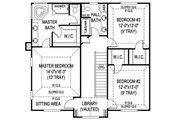 Farmhouse Style House Plan - 4 Beds 3.5 Baths 2457 Sq/Ft Plan #11-218 Floor Plan - Upper Floor Plan