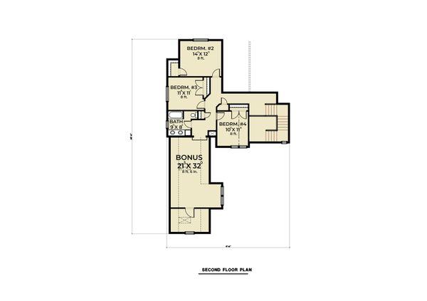 Farmhouse Floor Plan - Upper Floor Plan #1070-104