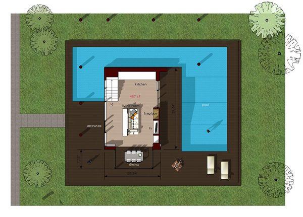 Modern Floor Plan - Main Floor Plan Plan #473-2
