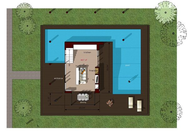 Modern Floor Plan - Main Floor Plan #473-2