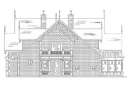Victorian Style House Plan - 5 Beds 5.5 Baths 4811 Sq/Ft Plan #5-441 Exterior - Rear Elevation