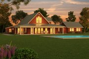 Farmhouse Style House Plan - 3 Beds 2.5 Baths 3754 Sq/Ft Plan #888-1 Exterior - Outdoor Living