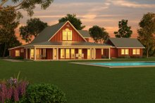 Farmhouse Exterior - Outdoor Living Plan #888-1