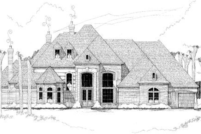 Traditional Exterior - Front Elevation Plan #61-196