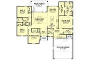 European Style House Plan - 4 Beds 2 Baths 2180 Sq/Ft Plan #430-121 Floor Plan - Main Floor Plan