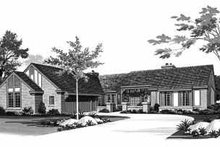 House Blueprint - Ranch Exterior - Front Elevation Plan #72-366