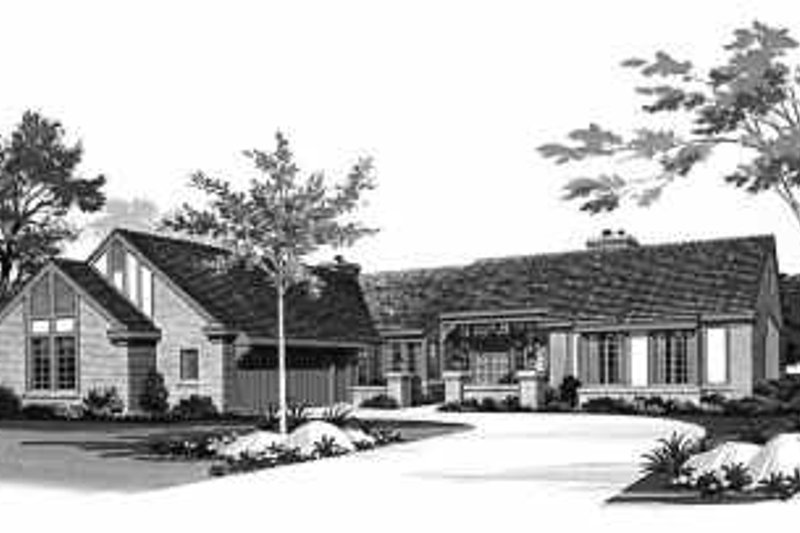 Ranch Exterior - Front Elevation Plan #72-366 - Houseplans.com