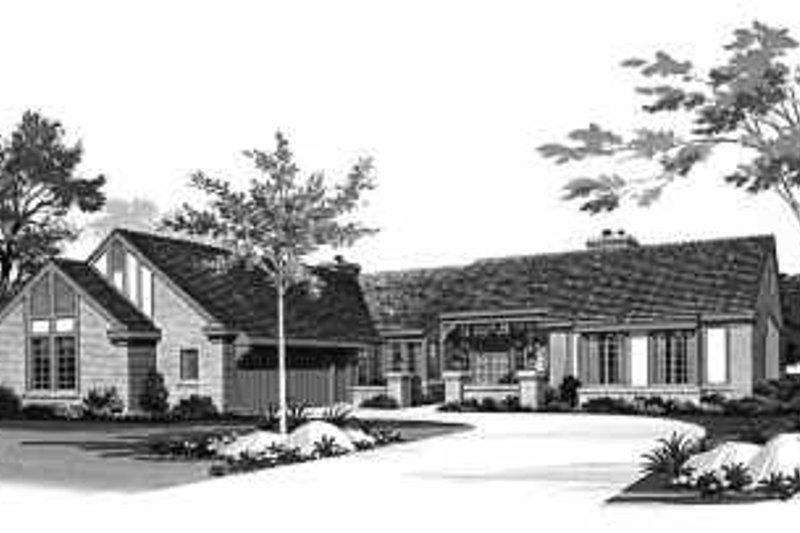 House Blueprint - Ranch Exterior - Front Elevation Plan #72-366