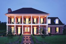 Colonial Exterior - Front Elevation Plan #137-105