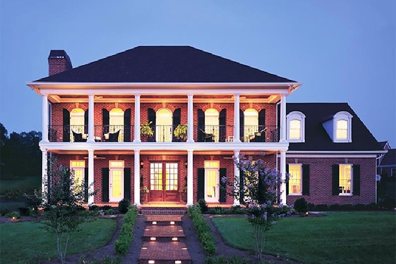 Colonial Exterior - Front Elevation Plan #137-105 - Houseplans.com