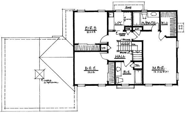 Classical Floor Plan - Upper Floor Plan Plan #328-162