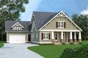 Craftsman Style House Plan - 3 Beds 3 Baths 3085 Sq/Ft Plan #419-265 Exterior - Front Elevation