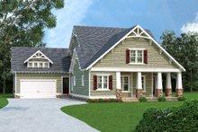 Dream House Plan - Craftsman Exterior - Front Elevation Plan #419-265