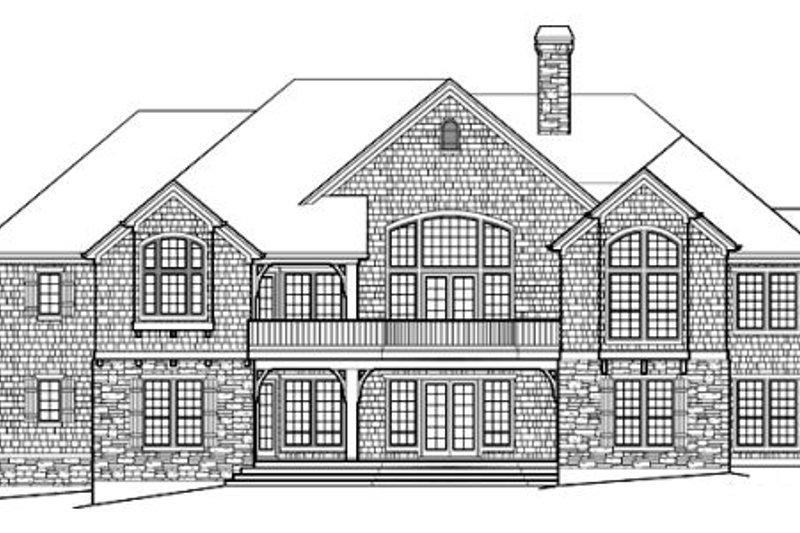 European Exterior - Rear Elevation Plan #48-431 - Houseplans.com