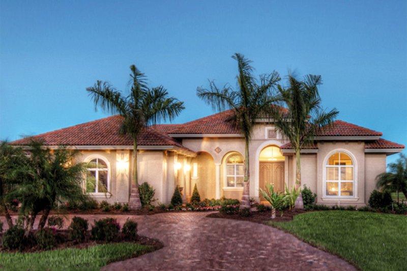 Architectural House Design - Mediterranean Exterior - Front Elevation Plan #930-448