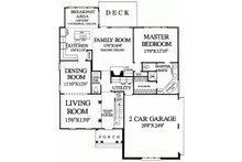 European Floor Plan - Main Floor Plan Plan #137-153