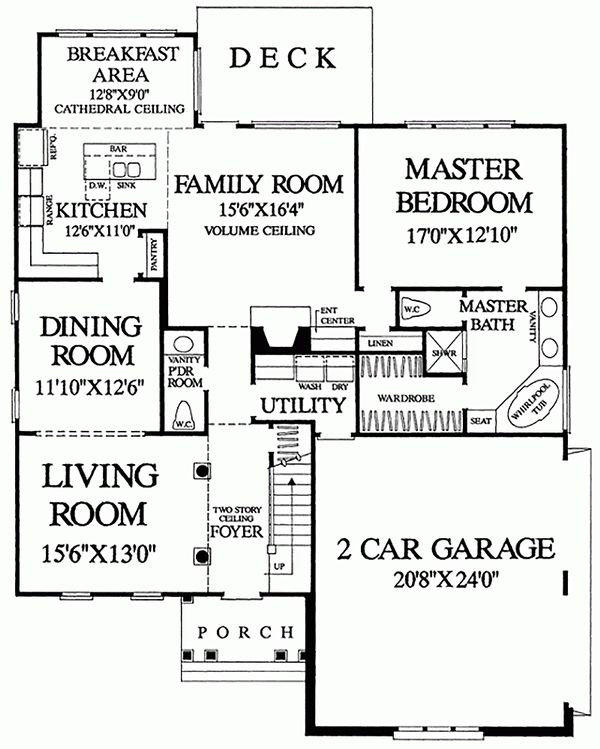 European Floor Plan - Main Floor Plan Plan #137-153