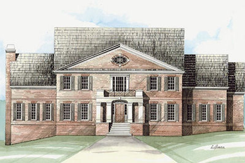 European Exterior - Front Elevation Plan #119-299