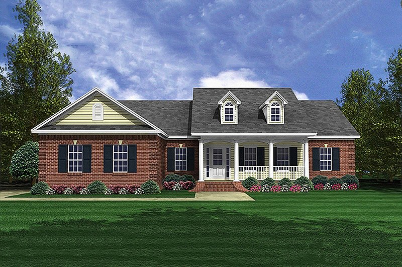 Home Plan - Traditional Exterior - Front Elevation Plan #21-343
