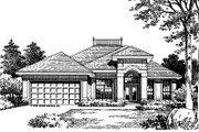 Mediterranean Style House Plan - 3 Beds 2 Baths 1550 Sq/Ft Plan #417-126