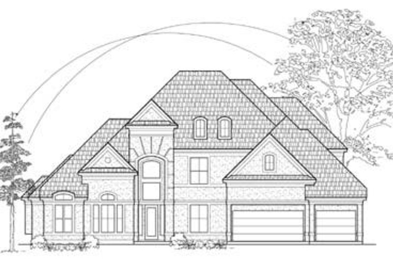 European Exterior - Front Elevation Plan #61-120