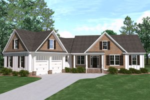Architectural House Design - Ranch Exterior - Front Elevation Plan #1071-13