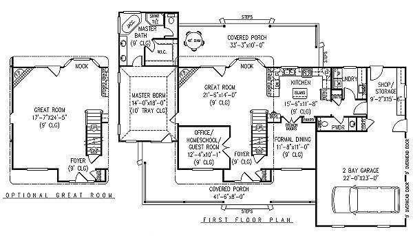 Home Plan - Country Floor Plan - Main Floor Plan #11-222