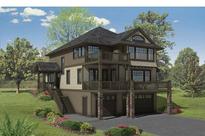 Craftsman Exterior - Front Elevation Plan #569-23 - Houseplans.com